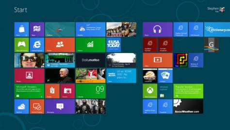 Win8CP home screen Windows 8 is cool but it is still a Beta photo