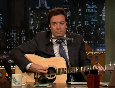 Jingle Bells Jimmy Fallon Jimmy Fallon and Bob Dylan cover Christmas photo