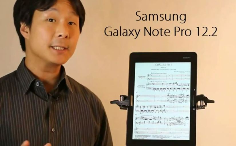 Samsung Galaxy Note Pro 12.2 A Better Full Sheet Music Reader