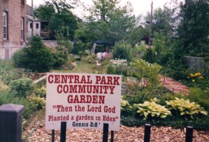 Central Park Community Garden.