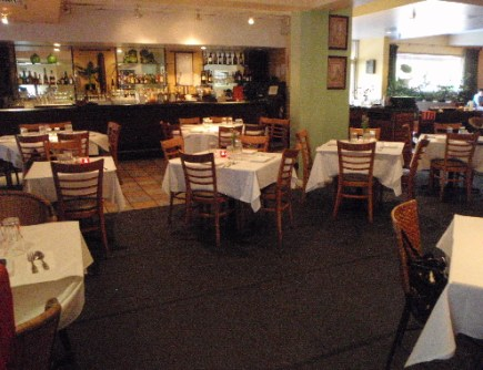 The interior of Spice Islands in Mountain View, California