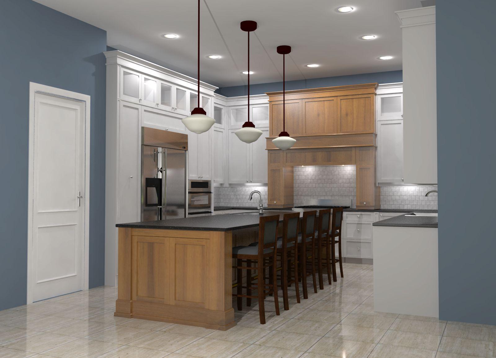 white shaker kitchen w maple island shaker kitchen island Cap