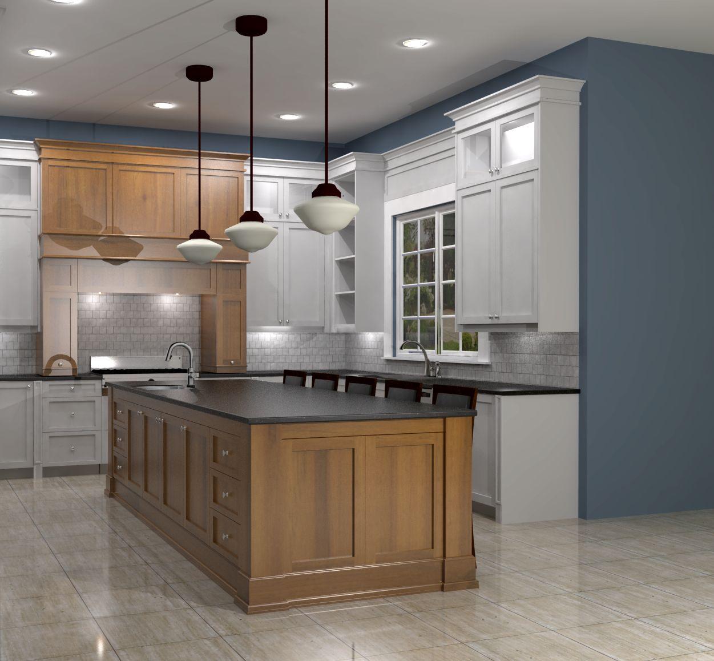 white shaker kitchen w maple island shaker kitchen island CAP2