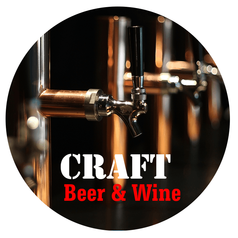 Craft Beers and Wines!