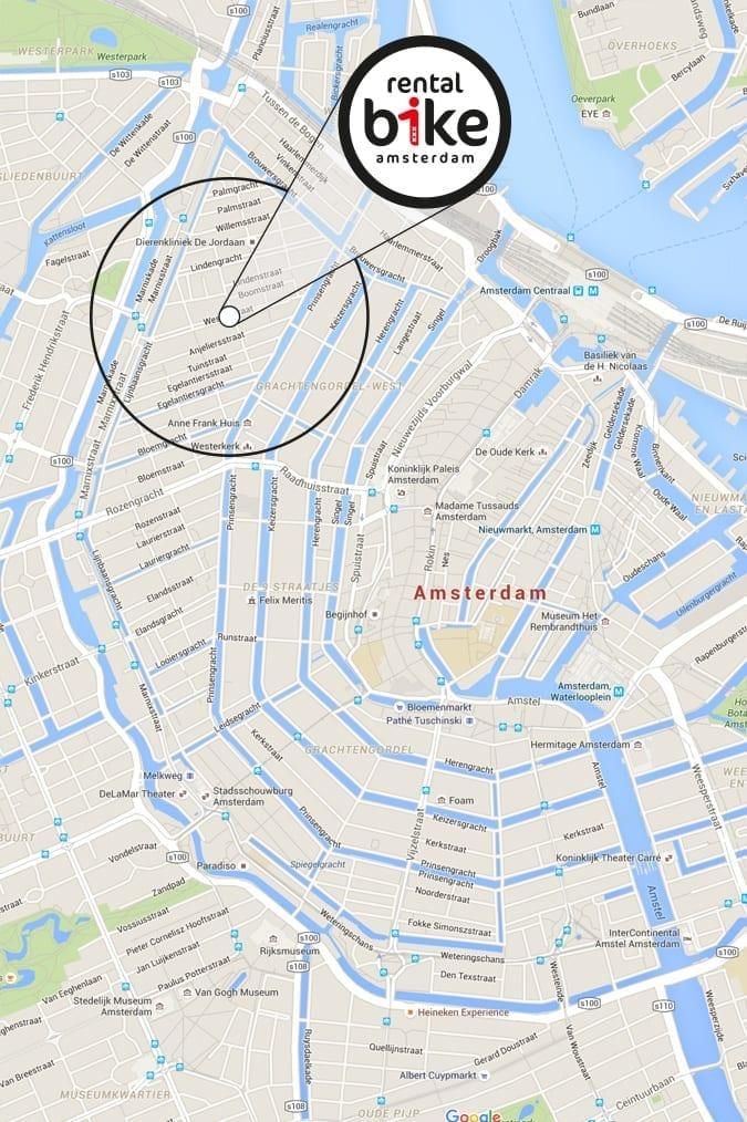 Fietsverhuur bij Rentalbike op de Westerstraat 115 in Amsterdam