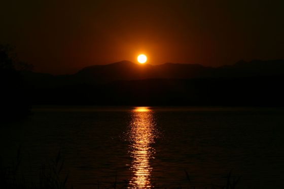 大沼に陽が沈むⅠ