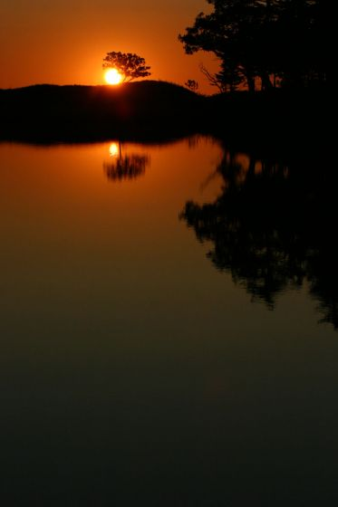 一湖(知床五湖) 2008年10月に撮影