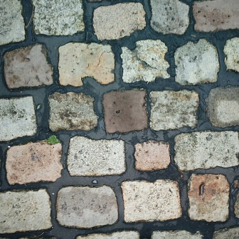 Brown cobblestones