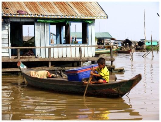 Tonle Sap, Floating Village