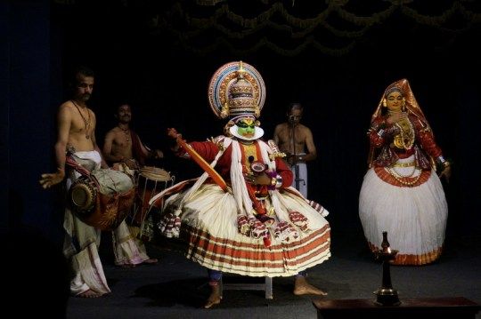 Kathakali Performance, Kerala with Kids