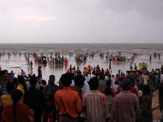 Celebrating Ganpati at Juhu Beach