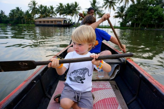 Cruising the backwaters of Kerala