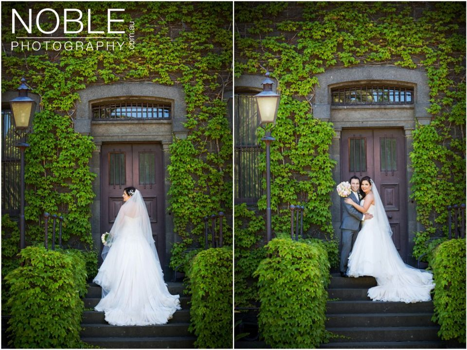 Wedding location photos at Victoria Barracks