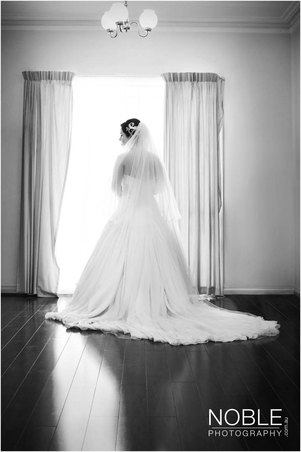 wedding dress back shot