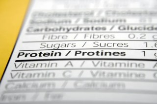 Nutrition facts focused on Protein.