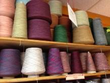 More cones of yarn