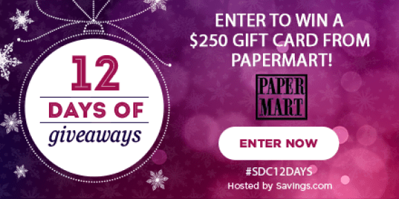 Win a gift card from PaperMart!
