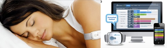 Bodymedia sleep and fitness trackers