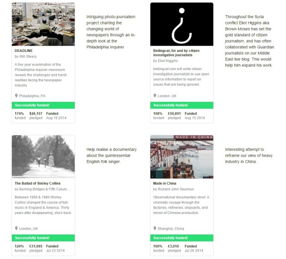 The Guardian + Kickstarter