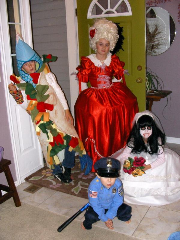 A fish taco, Marie Antoinette, policeman and dead bride
