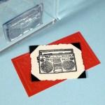 boom box rubber stamp