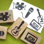 rock and roll rubber stamps