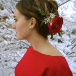 rose hairpiece