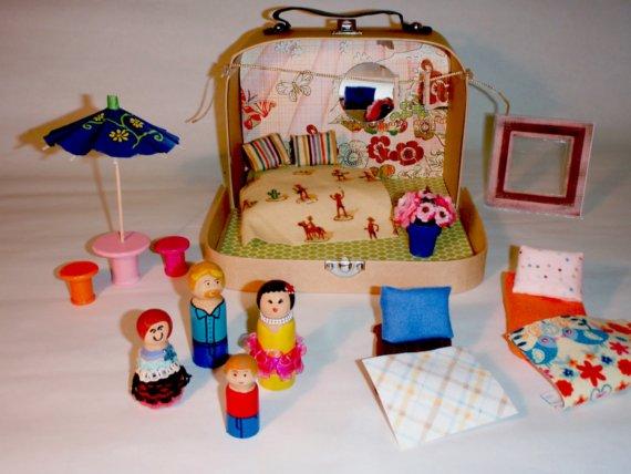 tiny suitcase dollhouse