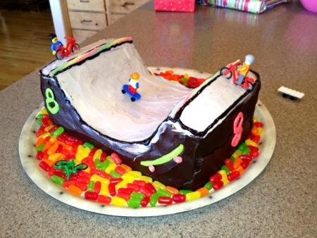 skate ramp cake