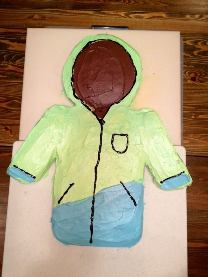 ski jacket cake
