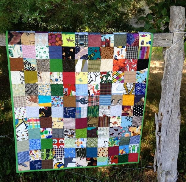 patchwork boy baby quilt