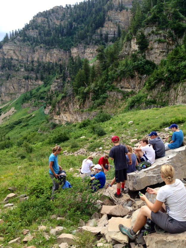 snack time on Timpanogos