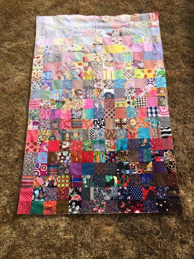 ombre patchwork quilt panel