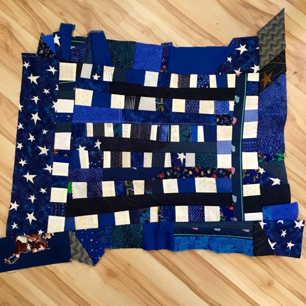 american flag quilt, making the stars
