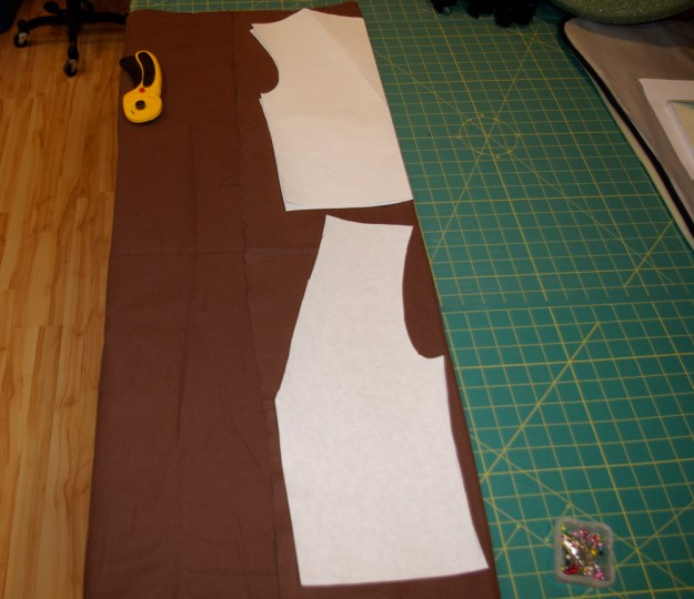 ... paper, draw the shape you want, and then cut out the pattern piece