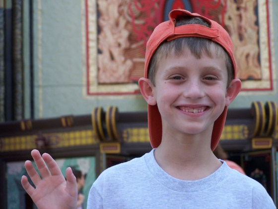 Noah at Disney World in 2005