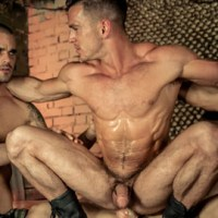 "[MEN] Paddy O'Brian Gang Bang con Alex Brando, Allen King, Damien Crosse y Gabriel Vanderloo en ""Prisoner Of War, Part 4"""