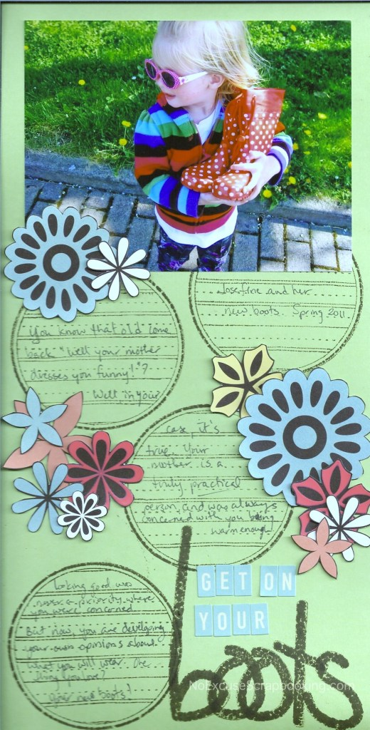 Using pieces of patterned paper as embellishments