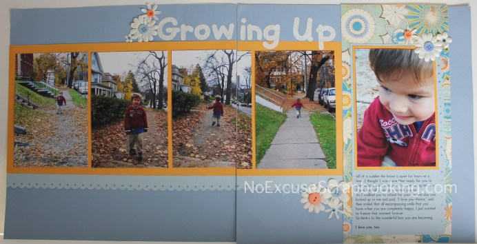 Growing Up // NoExcuseScrapbooking.com