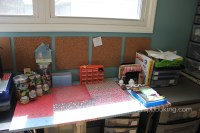 Paper covered table || noexcusescrapbooking.com