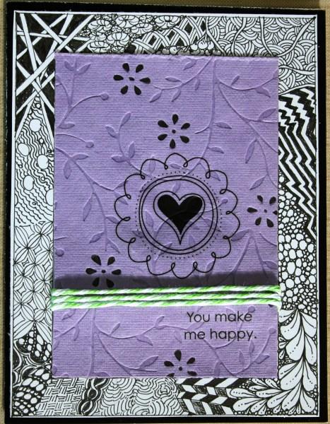zentangled card