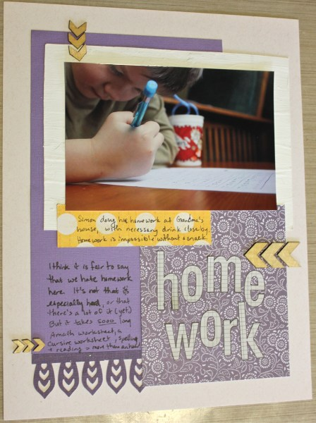 LOAD Day 2 Homework || NoExcuseScrapbooking.com
