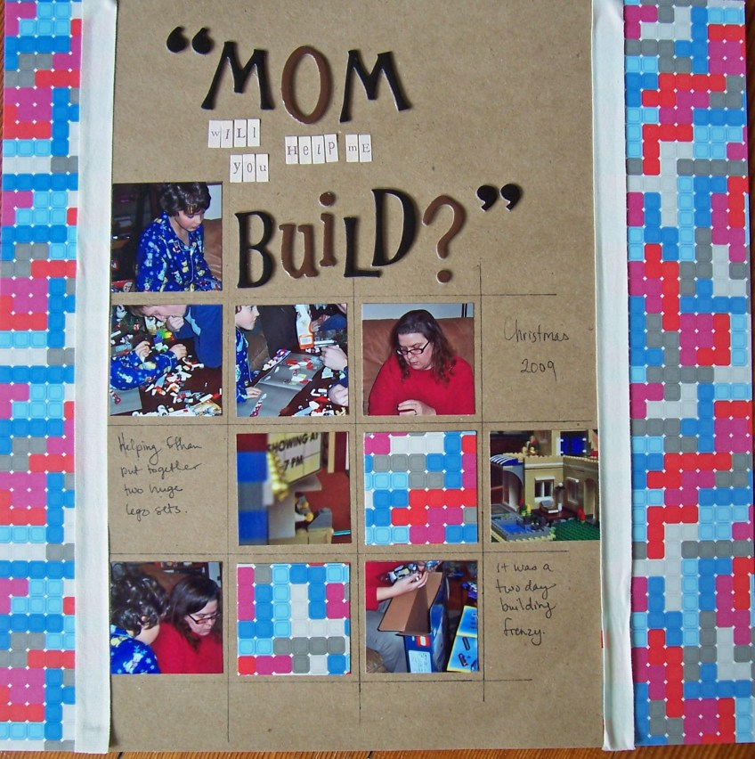 Mom will you help me build || noexcusescrapbooking.com