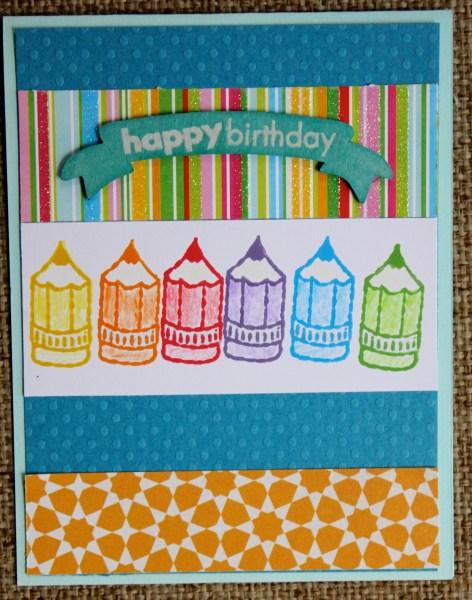 pencil birthday card || noexcusescrapbooking.com