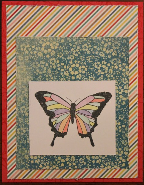 butterfly card || noexcusescrapbooking.com