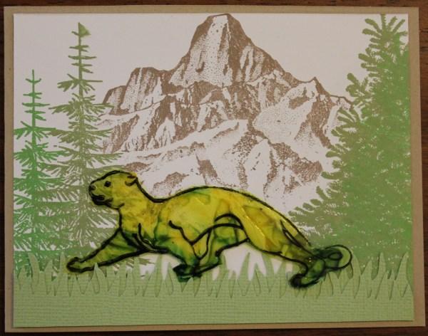 Mountain lion meadow card || noexcusescrapbooking.com