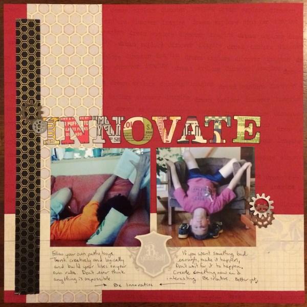 Innovate || noexcusescrapbooking.com