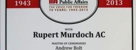 IPA and Murdoch are freedom's discerning friends: Abbott