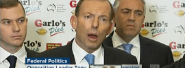 Abbott's #Battlerort lines collapse under @bkjabour questioning