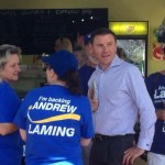 Andrew Laming and supporters not campaigning at Cleveland farmers' markets.